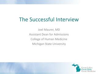 The Successful Interview