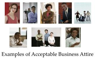 Examples of Acceptable Business Attire