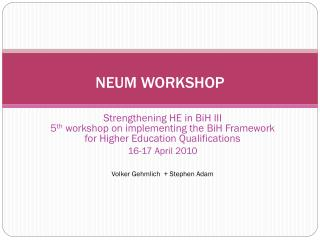 NEUM WORKSHOP