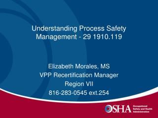 Understanding Process Safety Management - 29 1910.119