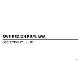 SWE Region F BYLAWS