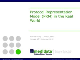 Protocol  Representation  Model (PRM)  in the Real World