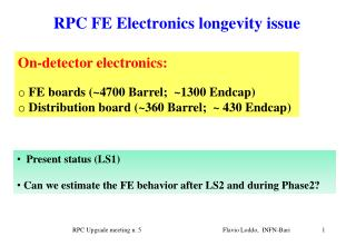 RPC  FE  Electronics longevity issue