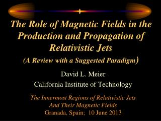 David L. Meier California Institute of Technology