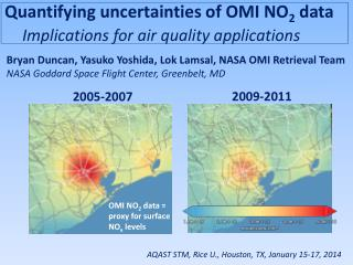 Quantifying uncertainties of OMI  NO 2  data  Implications for air quality applications