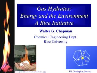 Gas Hydrates:  Energy and the Environment A Rice Initiative