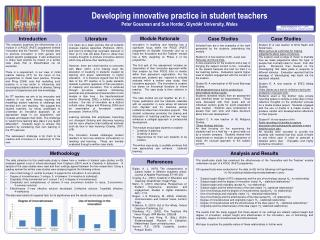 Developing innovative practice in student teachers
