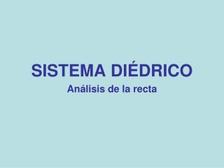 SISTEMA DIÉDRICO