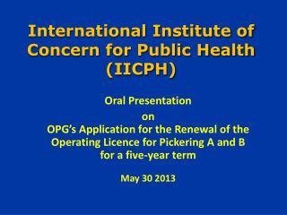 International Institute of Concern for Public Health (IICPH)