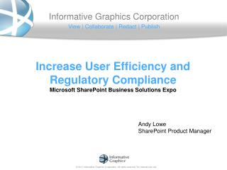 Increase User Efficiency and Regulatory Compliance Microsoft SharePoint  Business Solutions  Expo