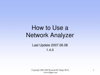 How to Use a Network Analyzer