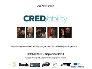 Developing accredited   training  programmes  for delivering arts in prisons