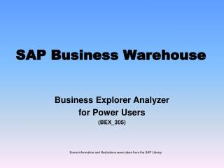 SAP Business Warehouse