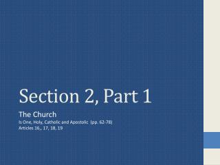 Section 2, Part 1