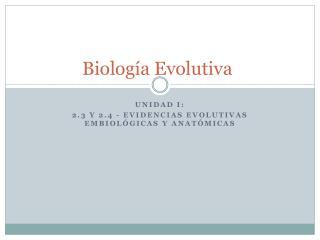 Biología  Evolutiva
