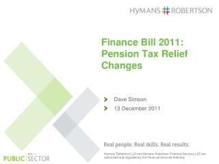 Dave Simson  13 December 2011