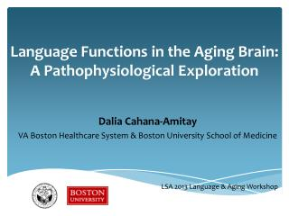 Language Functions in the Aging Brain: A Pathophysiological Exploration