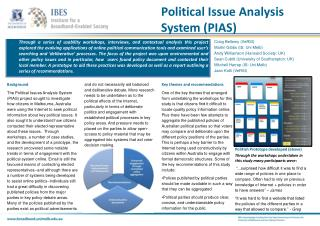 Political Issue Analysis System (PIAS)