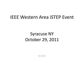 IEEE Western Area  iSTEP  Event