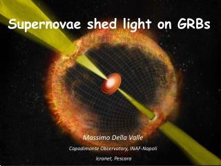 Massimo Della Valle Capodimonte  Observatory , INAF-Napoli Icranet , Pescara