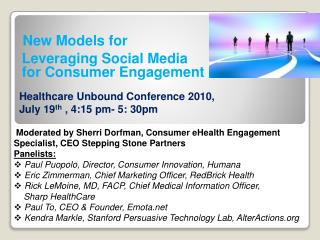 New Models for  Leveraging Social Media for Consumer Engagement