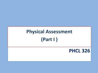 Phcl 326