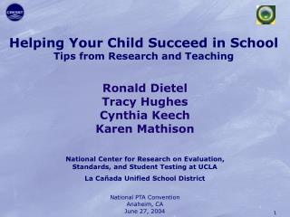 Helping Your Child Succeed in School Tips from Research and Teaching