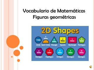 Vocabulario  de  Matemáticas Figuras geométricas