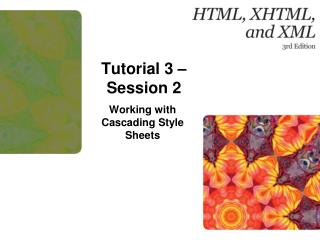 Tutorial  3 – Session 2