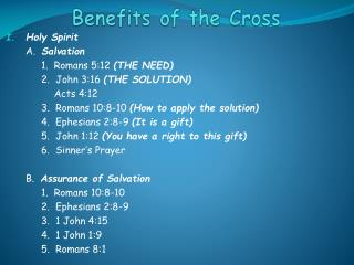 Benefits of the Cross