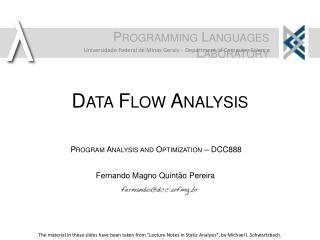 Data Flow Analysis