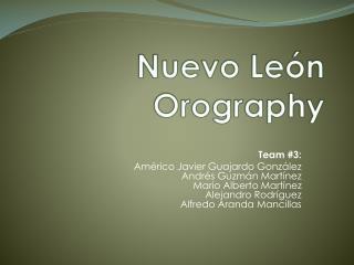 Nuevo León  Orography