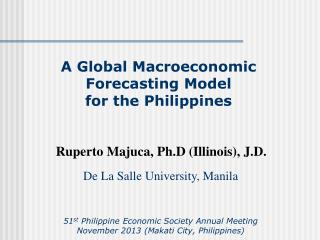 A Global Macroeconomic Forecasting Model  for  the Philippines