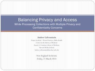 Amber LaFountain Project Archivist - Private Practices, Public Health