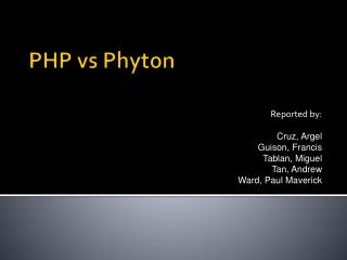PHP  vs Phyton