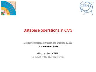 Database operations in CMS