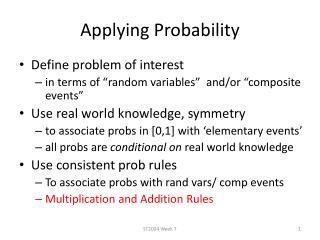 Applying Probability