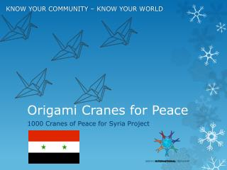 Origami Cranes for Peace