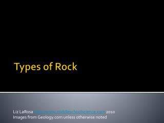 Types of Rock