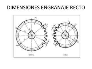 DIMENSIONES ENGRANAJE RECTO