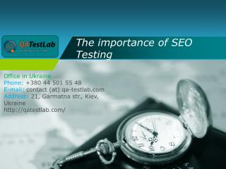 The importance of SEO Testing