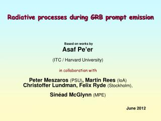 Radiative processes during GRB prompt emission