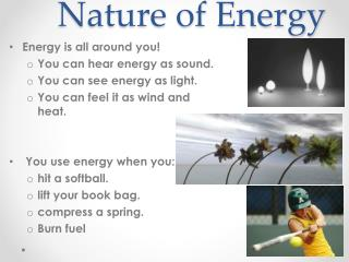 Nature of Energy