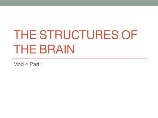 The Structures of the Brain
