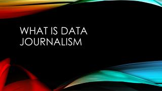 What is data journalism