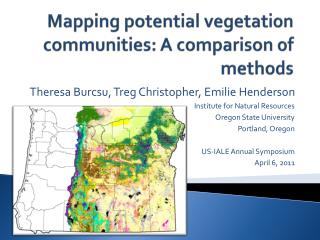Mapping potential vegetation communities: A comparison of methods