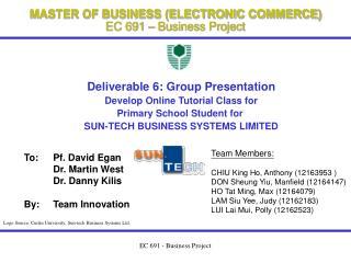 EC 691 - Business Project