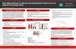 Title: Moral Distress in Nurses Providing Direct Patient Care on Inpatient Oncology Units