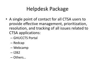 Helpdesk Package