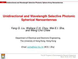 Unidirectional and Wavelength Selective Photonic  Spherical  Nanoantennas